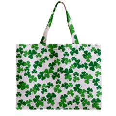 St  Patricks Day Clover Pattern Zipper Mini Tote Bag by Valentinaart