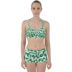 St  Patricks Day Clover Pattern Women s Sports Set