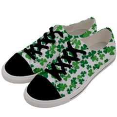St  Patricks Day Clover Pattern Men s Low Top Canvas Sneakers by Valentinaart