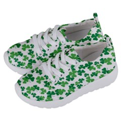 St  Patricks Day Clover Pattern Kids  Lightweight Sports Shoes by Valentinaart