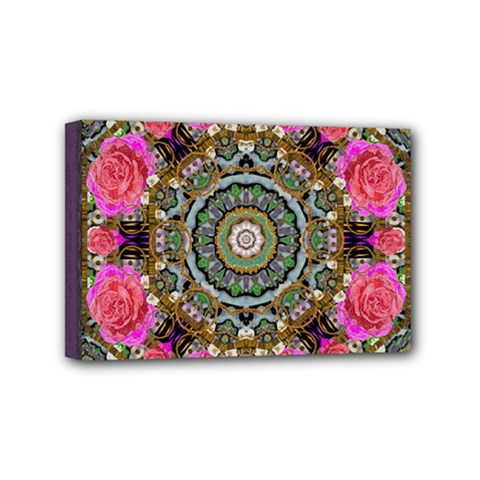 Roses In A Color Cascade Of Freedom And Peace Mini Canvas 6  X 4  by pepitasart