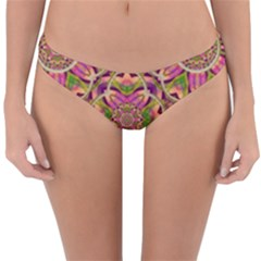 Jungle Flowers In Paradise  Lovely Chic Colors Reversible Hipster Bikini Bottoms by pepitasart