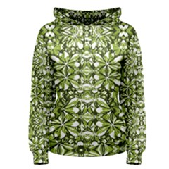 Stylized Nature Print Pattern Women s Pullover Hoodie by dflcprints