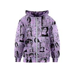 Lilac Yearbook 2 Kids  Zipper Hoodie by snowwhitegirl