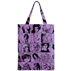 Lilac Yearbook 2 Zipper Classic Tote Bag by snowwhitegirl