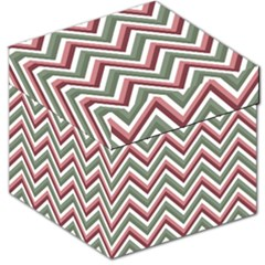 Chevron Blue Pink Storage Stool 12   by snowwhitegirl