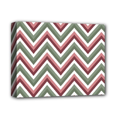 Chevron Blue Pink Deluxe Canvas 14  X 11