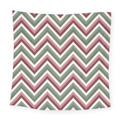 Chevron Blue Pink Square Tapestry (large) by snowwhitegirl