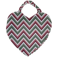 Chevron Blue Pink Giant Heart Shaped Tote