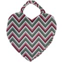Chevron Blue Pink Giant Heart Shaped Tote View1