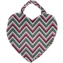 Chevron Blue Pink Giant Heart Shaped Tote View2