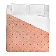 Dot Peach Duvet Cover (full/ Double Size) by snowwhitegirl