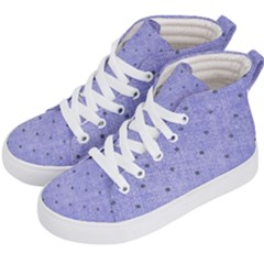 Dot Blue Kid s Hi Top Skate Sneakers by snowwhitegirl