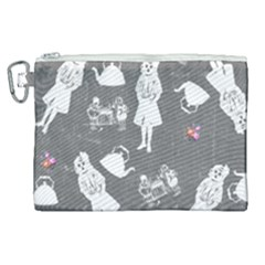 Chalkboard Kids Canvas Cosmetic Bag (xl) by snowwhitegirl