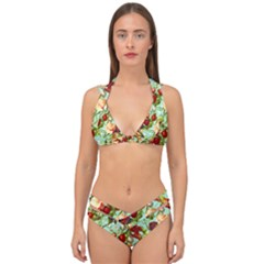 Fruit Blossom Double Strap Halter Bikini Set by snowwhitegirl