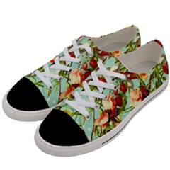 Fruit Blossom Women s Low Top Canvas Sneakers by snowwhitegirl