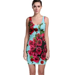 Roses Blue Bodycon Dress