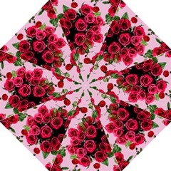 Roses Pink Golf Umbrellas