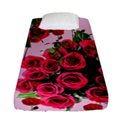 Roses Pink Fitted Sheet (single Size) by snowwhitegirl