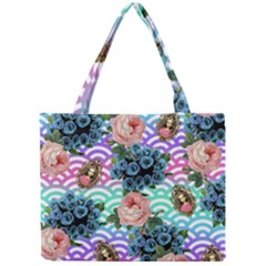 Floral Waves Mini Tote Bag
