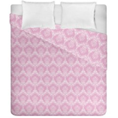 Damask Pink Duvet Cover Double Side (california King Size) by snowwhitegirl