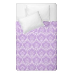 Damask Lilac Duvet Cover Double Side (single Size) by snowwhitegirl