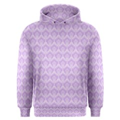 Damask Lilac Men s Overhead Hoodie