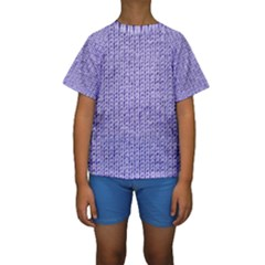 Knitted Wool Lilac Kids  Short Sleeve Swimwear