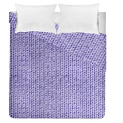 Knitted Wool Lilac Duvet Cover Double Side (queen Size) by snowwhitegirl