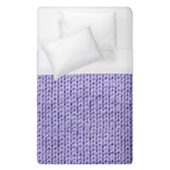 Knitted Wool Lilac Duvet Cover (single Size) by snowwhitegirl