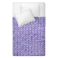 Knitted Wool Lilac Duvet Cover Double Side (single Size) by snowwhitegirl