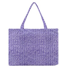 Knitted Wool Lilac Zipper Medium Tote Bag by snowwhitegirl