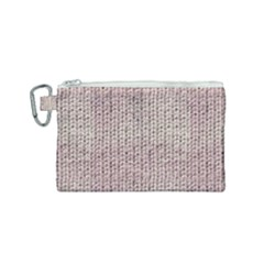 Knitted Wool Pink Light Canvas Cosmetic Bag (small) by snowwhitegirl