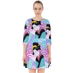 Japanese Abstract Smock Dress