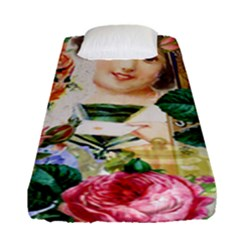 Little Girl Victorian Collage Fitted Sheet (single Size) by snowwhitegirl