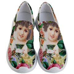 Little Girl Victorian Collage Women s Lightweight Slip Ons by snowwhitegirl