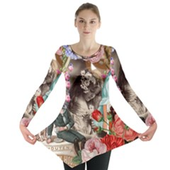Victorian Collage Long Sleeve Tunic  by snowwhitegirl