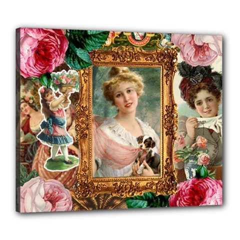 Victorian Collage Of Woman Canvas 24  X 20  by snowwhitegirl