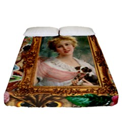 Victorian Collage Of Woman Fitted Sheet (queen Size) by snowwhitegirl