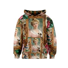 Victorian Collage Of Woman Kids  Pullover Hoodie