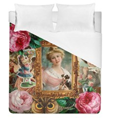 Victorian Collage Of Woman Duvet Cover (queen Size) by snowwhitegirl