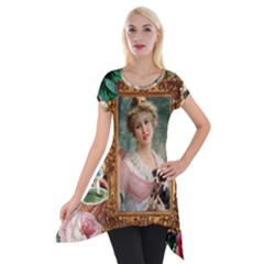 Victorian Collage Of Woman Short Sleeve Side Drop Tunic by snowwhitegirl