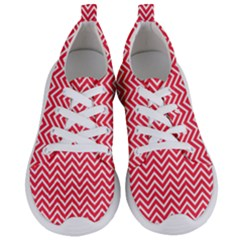 Red Chevron Women s Lightweight Sports Shoes