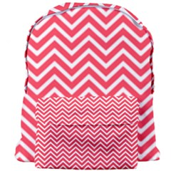 Red Chevron Giant Full Print Backpack by snowwhitegirl