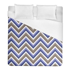 Chevron Blue Beige Duvet Cover (full/ Double Size) by snowwhitegirl