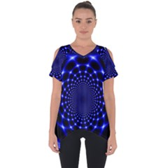 Indigo Lotus  Cut Out Side Drop Tee