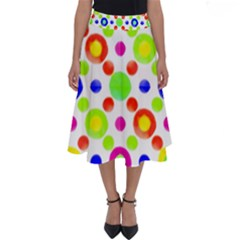 Multicolored Circles Motif Pattern Perfect Length Midi Skirt by dflcprints