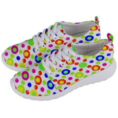 Multicolored Circles Motif Pattern Men s Lightweight Sports Shoes by dflcprints