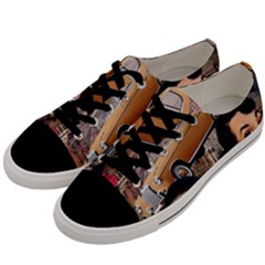 Out In The City Men s Low Top Canvas Sneakers by snowwhitegirl