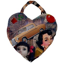 Out In The City Giant Heart Shaped Tote by snowwhitegirl